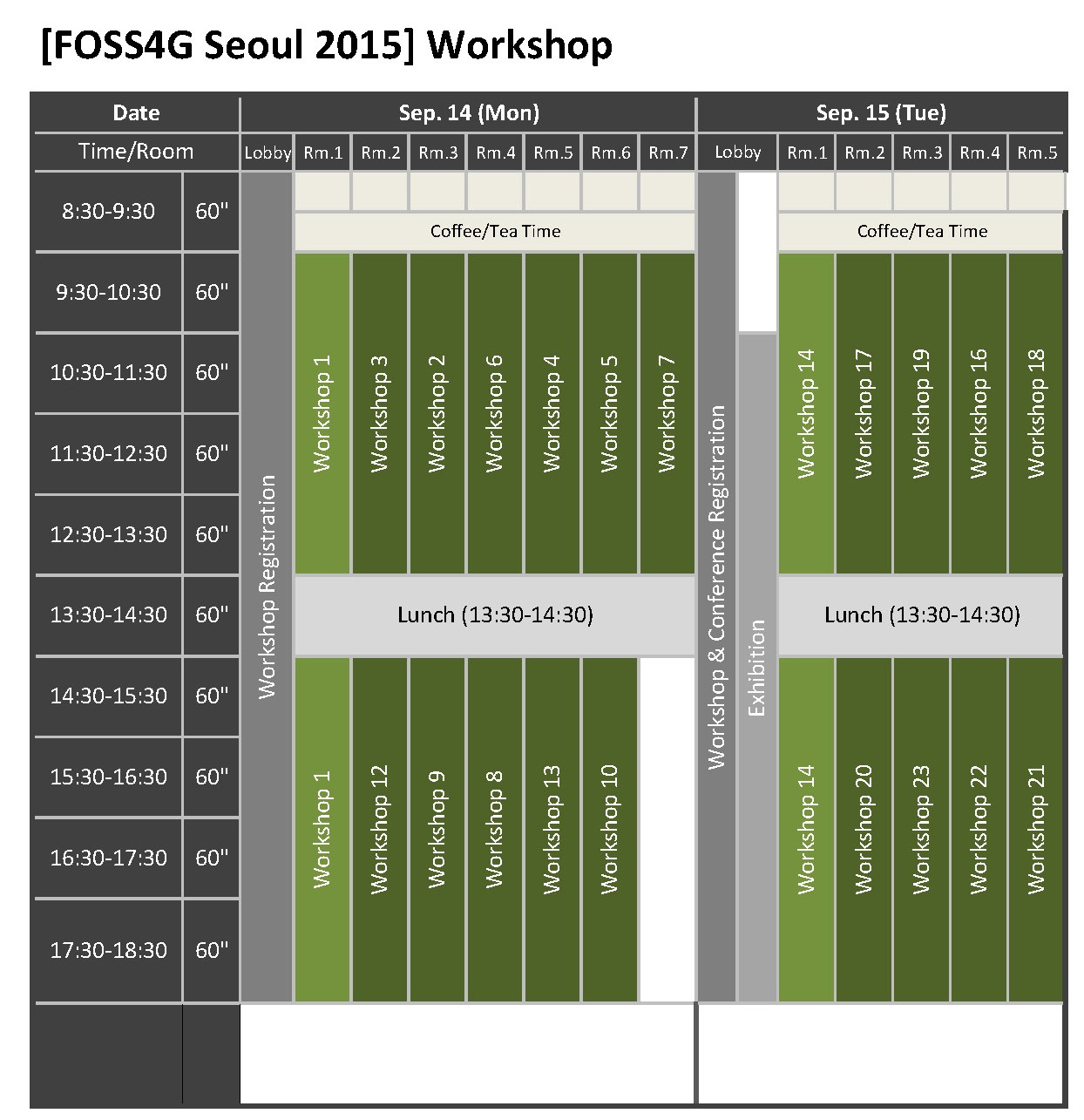 FOSS4G Seoul 2015_Programme at a Glance_페이지_1